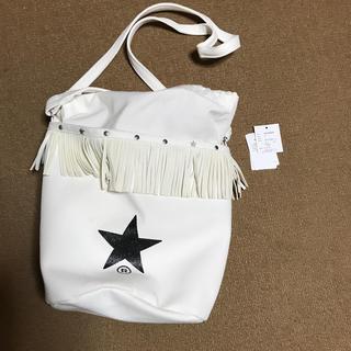 CONVERSE - 美品コンバーストウキョウホワイトフリンジスター巾着2wayショルダーbag