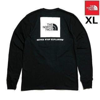 ザノースフェイス(THE NORTH FACE)の売切!ノースフェイス ボックスロゴ 長袖Tシャツ(XL)黒 180902(Tシャツ/カットソー(七分/長袖))
