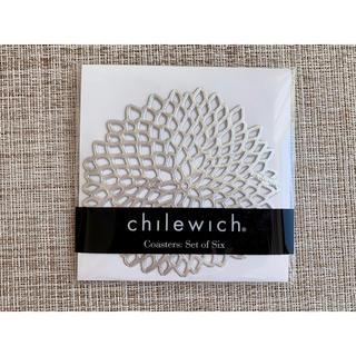 バーニーズニューヨーク(BARNEYS NEW YORK)のchilewich チルウィッチ コースター6枚セット シルバー(テーブル用品)