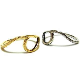 占い付き:ハワイアンジュエリー リング 波 ウェーブ K14(リング(指輪))