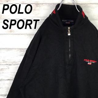 ポロラルフローレン(POLO RALPH LAUREN)のポロスポーツ フリース ハーフジップ 刺繍ロゴ オーバーサイズ ヴィンテージ(ブルゾン)