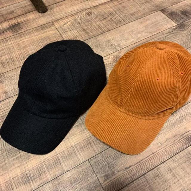 GU(ジーユー)の専用!GU  ジーユー  コーデュロイ  キャップセット メンズの帽子(キャップ)の商品写真