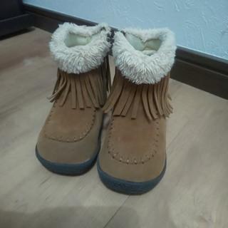 フタフタ(futafuta)のfutafuta フリンジムートンブーツ 15cm 値下げ(ブーツ)