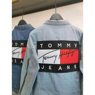 トミーヒルフィガー(TOMMY HILFIGER)の特価セール【ライトブルーXXL】TOMMY デニムジャケット男女兼用(Gジャン/デニムジャケット)
