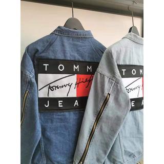 トミー(TOMMY)の大人気【ダークブルーXXL】TOMMY デニムジャケット男女兼用(Gジャン/デニムジャケット)