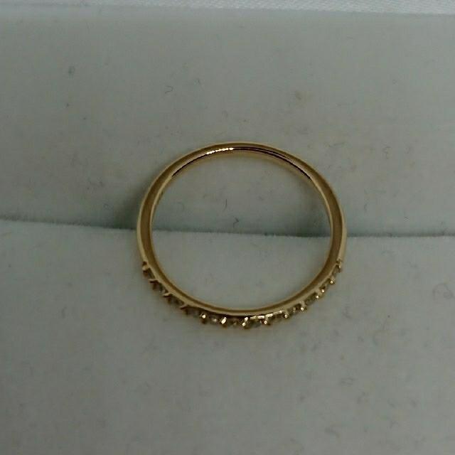 AHKAH(アーカー)のAHKAH K18YGダイヤモンドハーフエタニティリング 5号 レディースのアクセサリー(リング(指輪))の商品写真