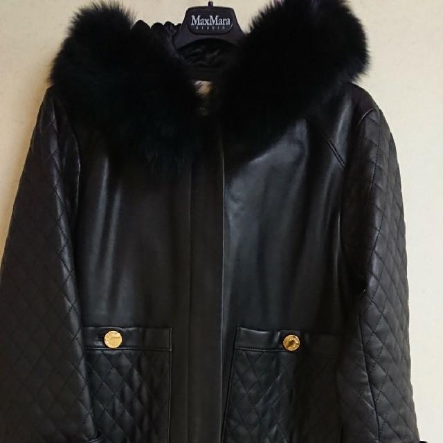 GRACE CONTINENTAL(グレースコンチネンタル)のなな様専用です🌹グレースコンチネンタル レザーキルティング切替ジャケット レディースのジャケット/アウター(毛皮/ファーコート)の商品写真