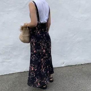 IENA - mite サスペンダーつきスカート