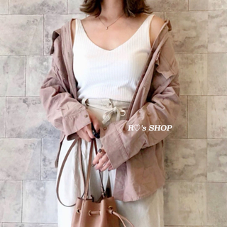 GU - 新品タグ付き♡コーデュロイオーバーサイズシャツ ピンク Sサイズ