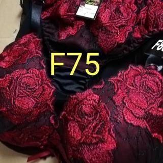 レッドローズF75ブラジャーLショーツ(ブラ&ショーツセット)