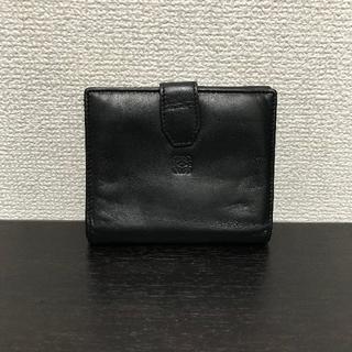 ロエベ(LOEWE)のロエベ 折り財布 黒 レザー (財布)