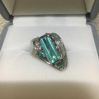 ミツコシ(三越)の三越 ダイヤモンド×トルマリン リング Pt900 2.05ct 13.8g(リング(指輪))
