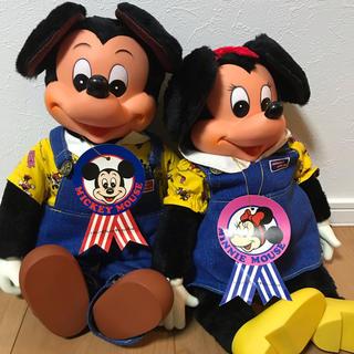 Disney - ミッキー  ミニー レトロ ぬいぐるみ