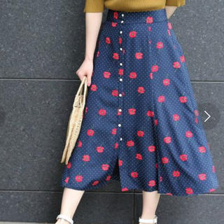 IENA - ドット前ボタンスカート iena 定価17000円