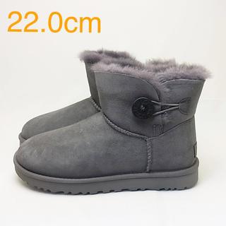 アグ(UGG)の新品 UGG アグ MINI BAILEY BUTTON グレー 22.0cm(ブーツ)