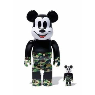 green BE@RBRICK BAPE® MICKEY MOUSE 緑(キャラクターグッズ)