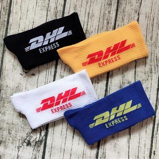 靴下【4足セット】DHL ロゴ ロゴソックス 4色セット