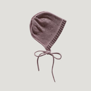 ボンポワン(Bonpoint)の【新品未使用】JAMIE KAY 6-12m ボンネット 帽子 dusk(帽子)