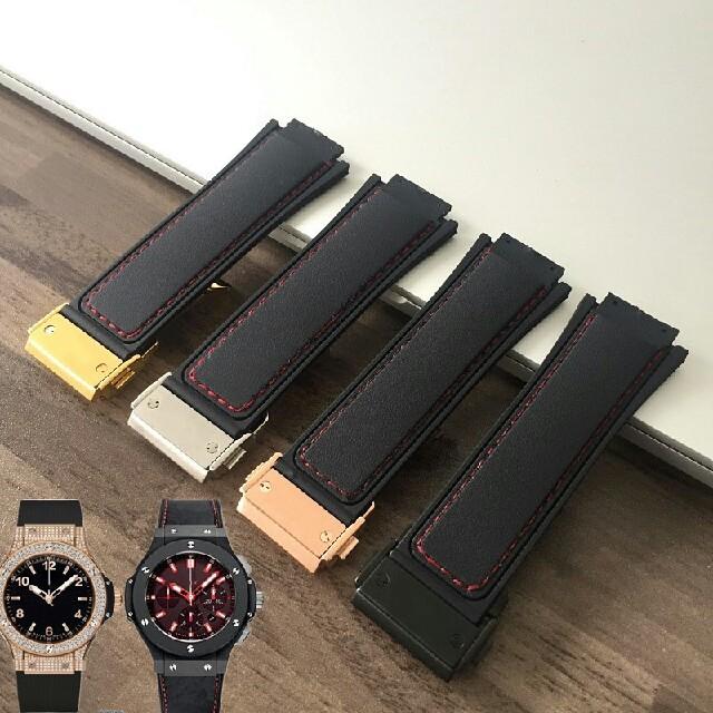 ウブロ(HUBLOT)向け ラバー ベルト 社外品 バックル付き 腕時計用 の通販 by 中本 杏子's shop