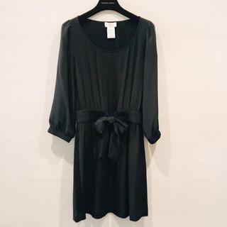 DOUBLE STANDARD CLOTHING - AKA シルク リボン ワンピース 美品