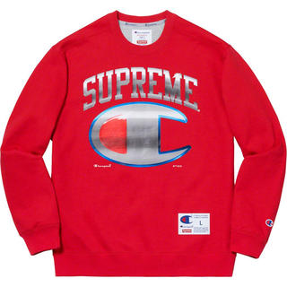Supreme - 19ss Supreme Champion chrome crew neck M
