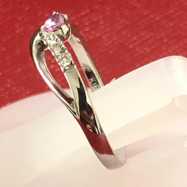 4℃(ヨンドシー)の4°C ヨンドシー ピンクサファイア ダイヤモンド リング 指輪 k18wg レディースのアクセサリー(リング(指輪))の商品写真