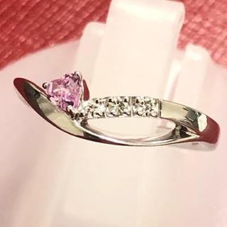 ヨンドシー(4℃)の4°C ヨンドシー ピンクサファイア ダイヤモンド リング 指輪 k18wg(リング(指輪))