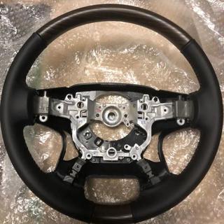 トヨタ(トヨタ)のプラド150後期 TZ-G純正ウッドコンビステアリング ブラック内装 新品未使用(車種別パーツ)