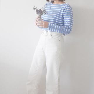 ユニクロ(UNIQLO)のユニクロ ボーダーカットソー 3XL(Tシャツ(長袖/七分))