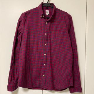 GAP - 【美品】GAP 赤ギンガムチェック ボタンダウンシャツ