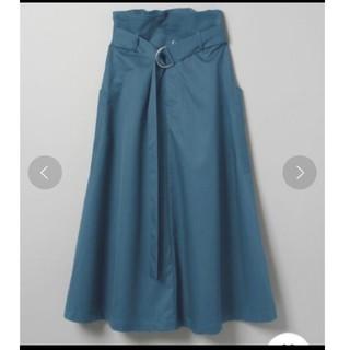 ジーナシス(JEANASIS)の☆美品☆JEANASIS★ミリタリー ポケット スカート ブルー(ロングスカート)