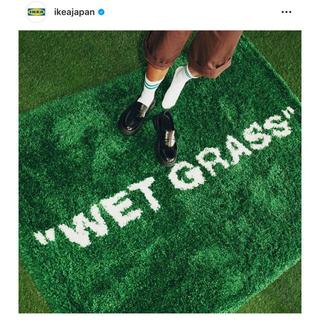 IKEA - IKEA VIRGILABLOH off-white ラグ WET GRASS