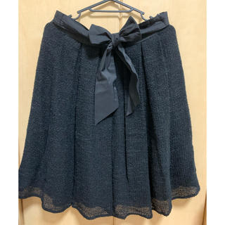 トゥービーシック(TO BE CHIC)のTO BE CHIC  スカート 黒(ひざ丈スカート)