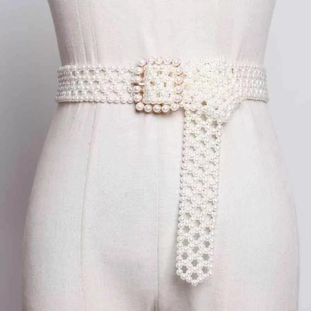 snidel(スナイデル)のgold Pearl west belt パールベルト レディースのファッション小物(ベルト)の商品写真