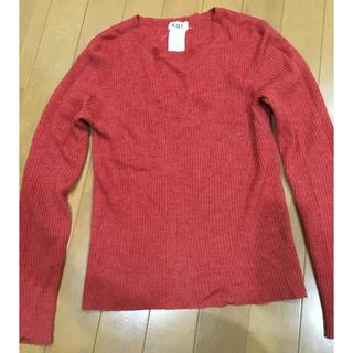 ユナイテッドアローズ(UNITED ARROWS)のk.a.t 朱色 セーター 毛100%(ニット/セーター)