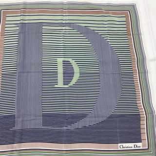 クリスチャンディオール(Christian Dior)の新品未使用!Diorディオール レア品!ロゴマルチカラースカーフ(バンダナ/スカーフ)