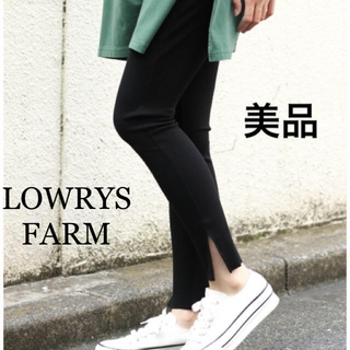 LOWRYS FARM - 【美品】 LOWRYS FARM レイヤード リブレギンス 黒 ブラック