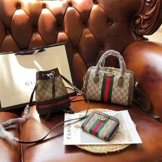 Gucci - Gucci グッチ 大人気 ハンドバッグ ショルダーバッグ 財布 3点セット