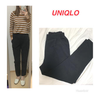 UNIQLO - UNIQLO♡テーパードパンツ ブラック