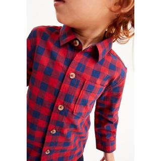 新品!ネクスト チェックシャツ 赤