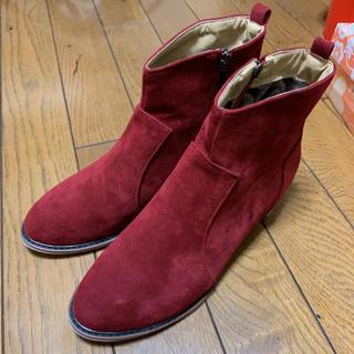 ショートブーツ 赤 26.5センチ新品(ブーツ)