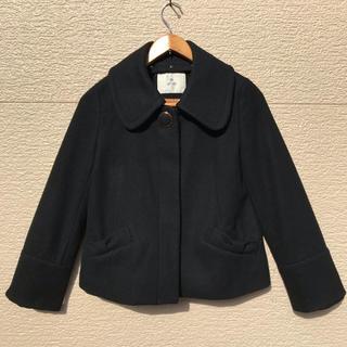 ef-de - ef-de エフデ コート ショート 黒 ブラック 9