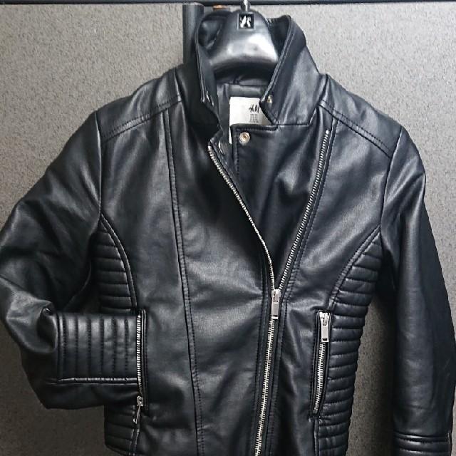 H&M(エイチアンドエム)のキッズ(男の子)/ライダースジャケット/H&M/US8―9Y キッズ/ベビー/マタニティのキッズ服 男の子用(90cm~)(ジャケット/上着)の商品写真