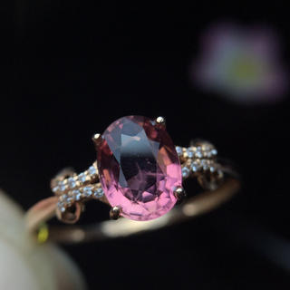 (天使の指輪)天然トルマリン ダイヤモンド リング(リング(指輪))