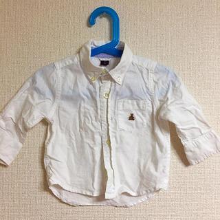 ベビーギャップ(babyGAP)のGAP 白いシャツ 80cm(シャツ/カットソー)