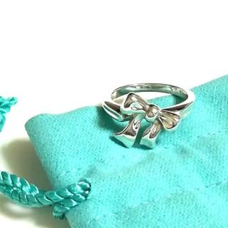 ティファニー(Tiffany & Co.)のティファニーリボンリング 9号(美品)(リング(指輪))
