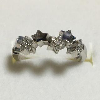 STAR JEWELRY - ダイヤモンドリング K18リング 星