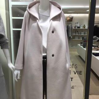 TOMORROWLAND - DES PRES ウールカシミヤ フーデットコートカーキ色
