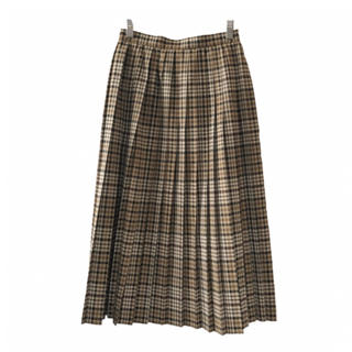 epa check pleated skirt(ロングスカート)