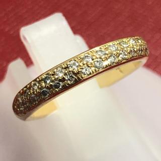 重ね付け ダイヤ リング 指輪 ハーフエタニティ k18yg イエローゴールド(リング(指輪))